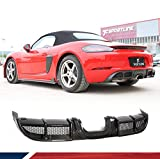 JC SPORTLINE Carbon Fiber Rear Diffuser Fits for Porsche 718 Boxster Cayman 2016-2019 Bumper Cover Lower Lip Spoiler Valance Protector Body Kits Factory Outlet
