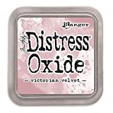 Ranger Tim Holtz Distress Oxide Weathered Wood-a 2x2 Raised Pad, with Water-Reactive Dye Ink Tinta, Azul, 7.6 X 7.6 Cm