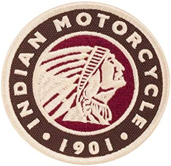 Indian Motorcycle Embroidered Circle Icon Patch product image