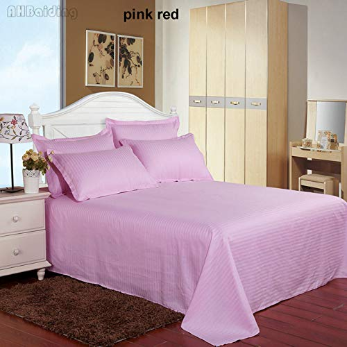 Home Textile Rose Red Hotel Bed Sheet 1 st Satijn Katoen Vlakke Vellen