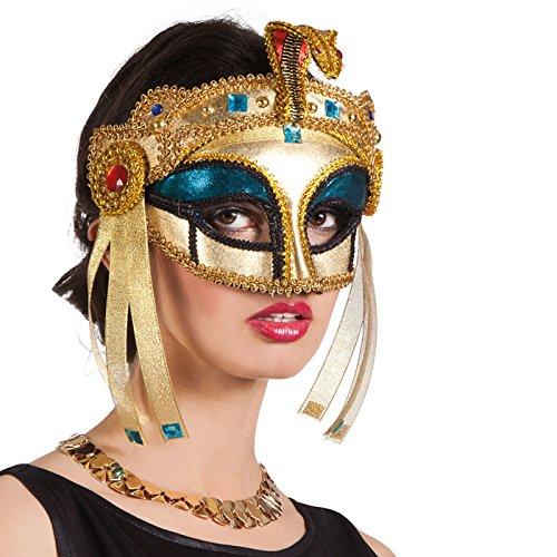 PARTY DISCOUNT Maske Venedig, Kleopatra, Gold