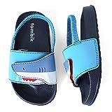 tombik Toddler Water Shoes Boys Beach Sandals Kids Slide Slipper for Walking/Play Navy/Blue/Shark 3-4 US M Infant