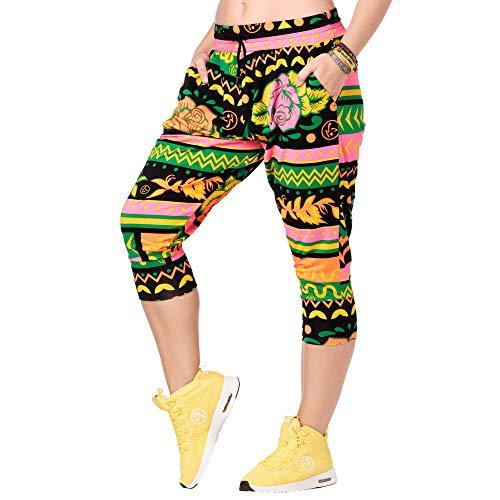 Zumba Capri Pantalon Harem de Entrenamiento Fitness Mallas de Deporte de Mujer, Groovin Green 0, XS