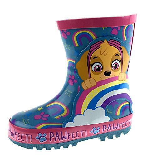 Girls Paw Patrol Wellington Boots Skye Rainbows UK 8