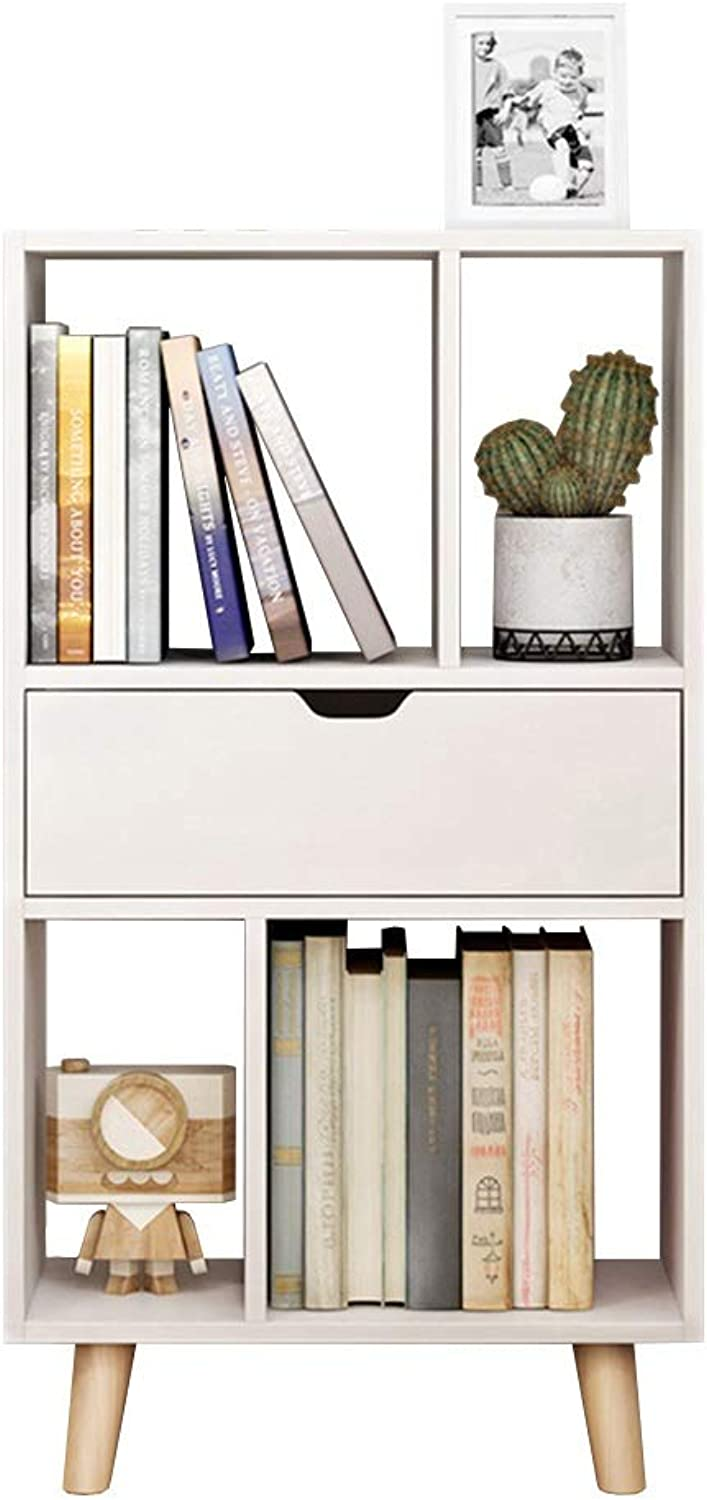 Axdwfd Floating Shelves Bookshelf, Nordic Bookcase Floor Bookcase, Modern Minimalist Living Room Storage Rack, Office Rack 50  25  92cm, 50  92cm, 50  25  123cm (color   White, Size   50  92cm)