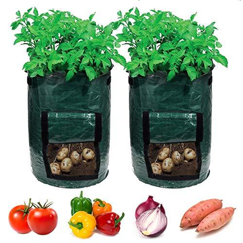 Garden4Ever Potato Planter Bags 2-Pack 7 Gallon Grow Bags Aeration Tomato Plant...