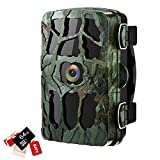 4K Trail Cameras 20MP Wildlife Hunting Camera, Game Camera with Night Vision 0.2s Trigger Time Motion Activated Waterproof Scouting Cam 120°Angle, Loop Recording for Security Wildlife Animal Outdoor