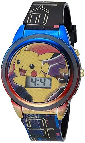 Pokemon Boys' Quartz Watch with Plastic Strap, Multicolor, 15 (Model: POK4210AZ)