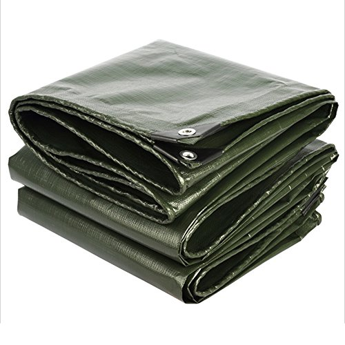 Tarpaulin NAN Tarp Cover Heavy Duty Thick Material, Waterproof, Great for Canopy Tent, Boat, RV or Pool Cover Thickness 0.35mm,180g/m² (Color : ArmyGreen, Size : 3 x 6m)