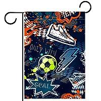ガーデンヤードフラッグ両面 /12x18in/ ポリエステルウェルカムハウス旗バナー,フットボール