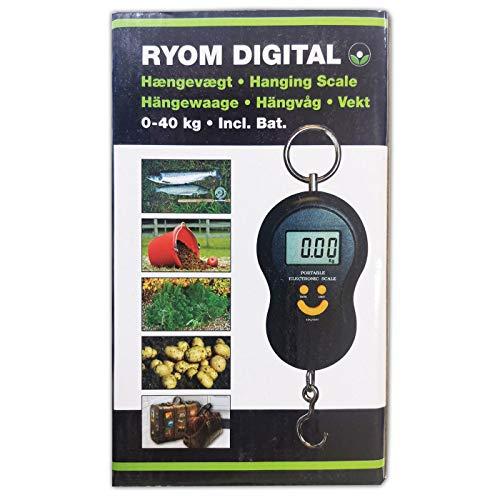 Ryom Hängewaage Hakenwaage digital, inkl. Batterien, bis 40 kg