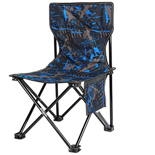 WJQ Tragbarer Klappstuhl Camping Reise Artefakt Home Low-Cost Stahl Sitz Outdoor Angelausrüstung Rutschfeste Durable Leichte Feste Dreieck Struktur Einfach zu erweitern