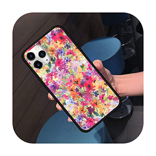 Lill Flower Art - Carcasa para iPhone 11 12 Pro XS MAX 8 7 6 6S Plus X 5S SE 2020 XR-a3-7plus u 8plus