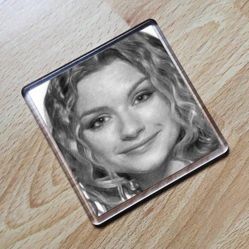 DANIELA DENBY-ASHE - Original Art Coaster #js001 by Coasters - Actresses