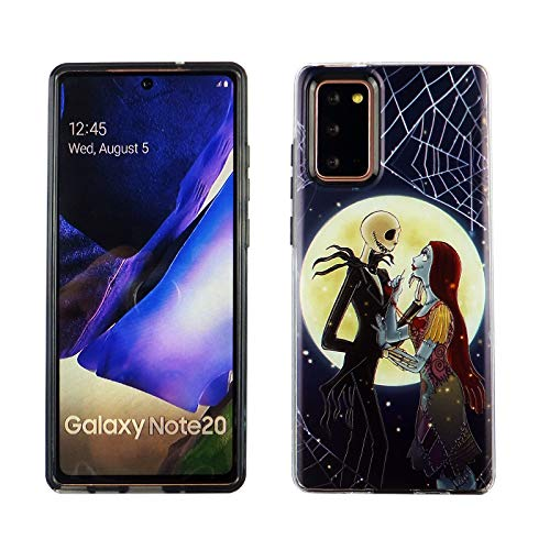 Galaxy Note 20 Dual Slim Case CASEVEREST 3D Print Cover Galaxy Note 20 The Nightmare Before Christmas Jack Skellington Sally Love PC+TPU