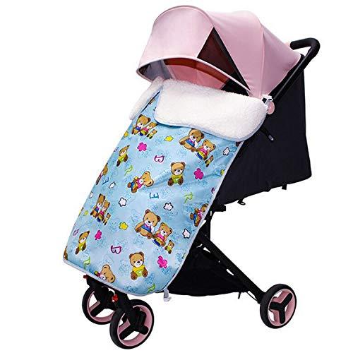 Couverture de poussette universelle,Gosear hiver coupe-vent hiver chaud couverture couverture couleur sac en tissu couverture pied, produits de plein air bébé bleu