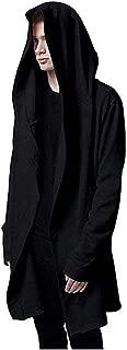 Weiyi Men's Long Hooded Cape - Black