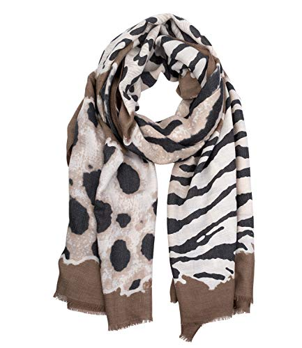 SIX Schal im Zebra-Look mit kurzen Fransen (705-783)