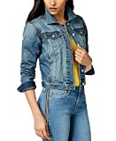 Maison Jules Womens Denim Star Down Jacket, Blue, XX-Large