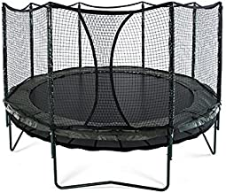 JumpSport 14' DoubleBounce PowerBounce | AlleyOOP Trampoline with Enclosure | Double the Safety, Double the Fun | 192 Black High Performance Springs | Lifetime Frame Warranty