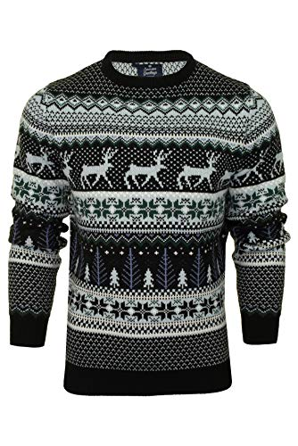 Herr julgran ren snö fairisle mönster nyhet jul jumper tröja