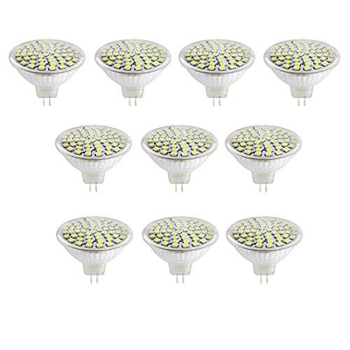 ACDC 12V 5W MR16 LED Birne Tageslicht 40 Watt Halogenbirnen Äquivalent MR16 LED Scheinwerfer GU5.3 Basis 400 Lumen 6500K 180 Grad Strahlwinkel für Landschaft, Akzent, Einbau,Schienenbeleuchtung