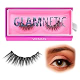 Glamnetic Lashes - Venus | Vegan Magnetic Eyelashes, Short Cat Eye Faux Mink Lashes, Flared 3D Natural Look, Reusable up to 40 times - 1 Pair