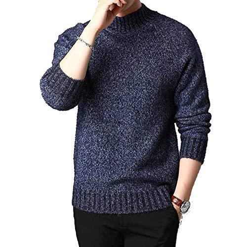 Grote Incisors wollen trui mannen lange mouwen coltrui gebreide trui Koreaanse stijl dikke truien Pull Homme