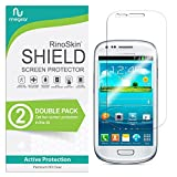 (2-Pack) RinoGear Screen Protector for Samsung Galaxy S3 Mini Case Friendly Samsung Galaxy S3 Mini Screen Protector Accessory Full Coverage Clear Film