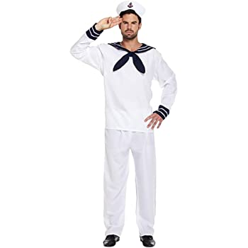 Mens Sailor Fancy Dress Stag Party Marine Navy Nautical by ...