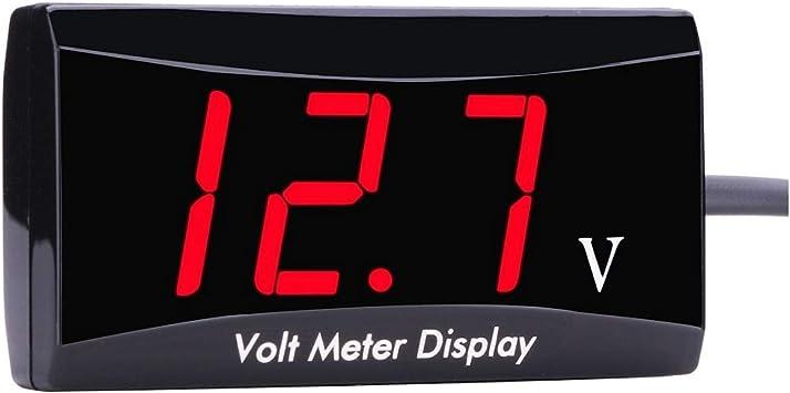 Red Digital LED Display 12V Voltmeter Voltage Gauge Panel Meter Car Motocycle