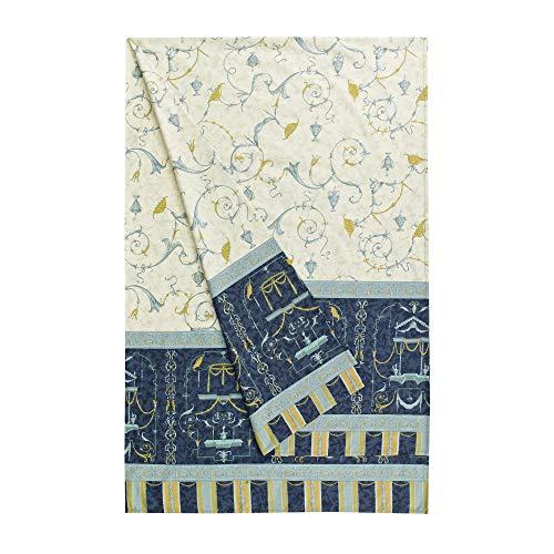 Bassetti OPLONTIS Granfoulard, Baumwolle, Blau, 180 x 270 x 1 cm