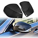 MCARCAR KIT Mirror Cover fits Infiniti Q50 Q50S Sedan 2014-2019 Factory Outlet Carbon Fiber CF Side Rearview Mirror Caps Car Exterior Outside Shell (Type A, replacement)