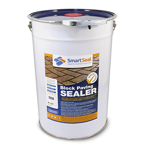 Smartseal Block Paving Sealer - Silk Finish - High Quality, Durable Sand Hardener & Weed Inhibitor for a Satin Look Finish on Block Paved Driveways and Patios; Seals & Protects (25 Litre)