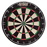 Tournament Official Size Bristle Staple-Free Dart Board for Steel Tip Darts. Professional Regulation Size Africa Sisal Dartboard with Ultra-Thin Spider Wire for Increased Scoring, Reduced Bounce Outs