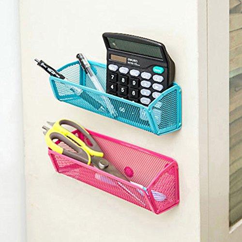 gloryhonor Kühlschrank Magnet Ablage adsorbing Halter Aufbewahrung Rack Küche Gadget Organizer 20cm x 8cm x 7.5cm rot