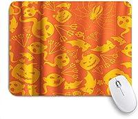 マウスパッド 個性的 おしゃれ 柔軟 かわいい ゴム製裏面 ゲーミングマウスパッド PC ノートパソコン オフィス用 デスクマット 滑り止め 耐久性が良い おもしろいパターン (子供のテーマのためのハロウィーン漫画パンプキンコウモリスパイダーゴースト)