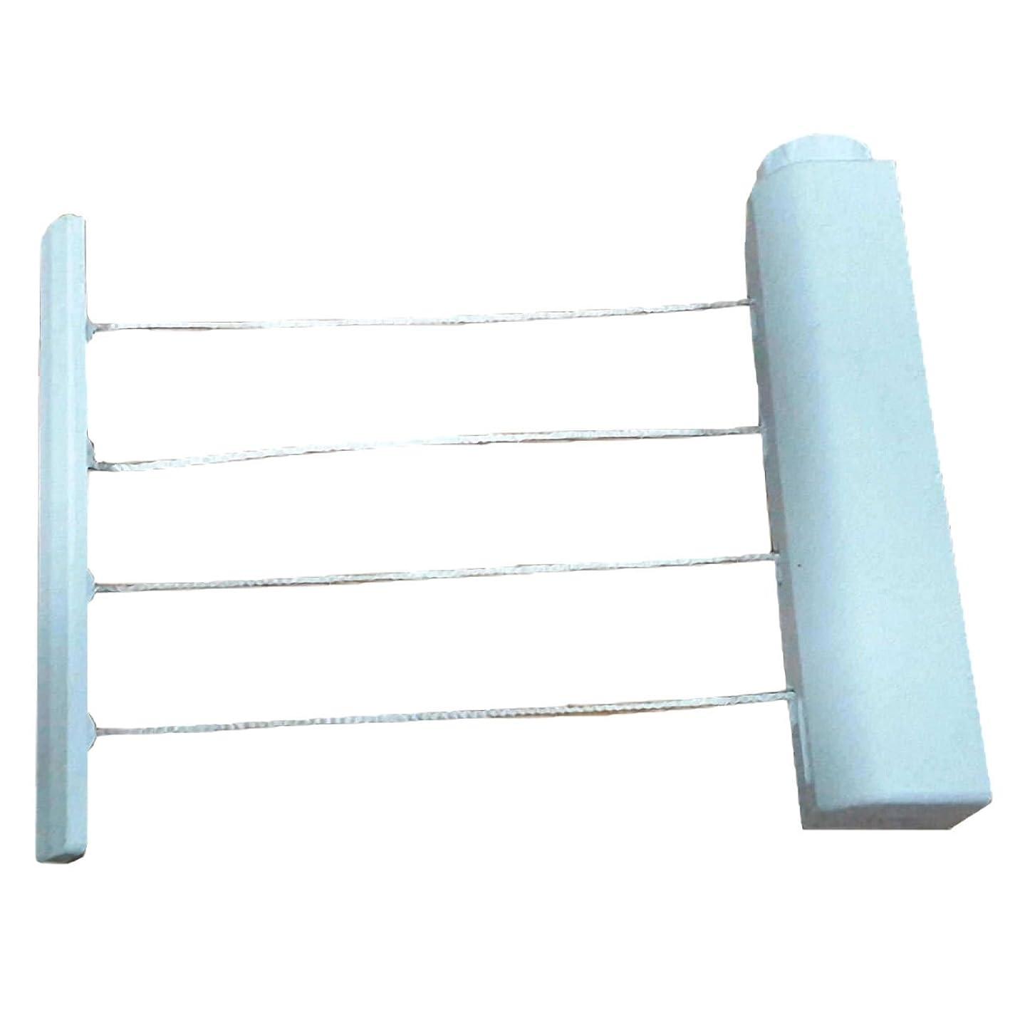 バレル好み罪悪感Felimoa 洗濯ロープ 4連 省スペースでたくさん干せる 室内物干しワイヤー 収納コンパクトで見た目スッキリ