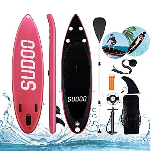 10FT SUPボード インフレータブルスタンドアップパドルボード 長300cm幅76cm厚15cm フルセット 耐久性 安定...