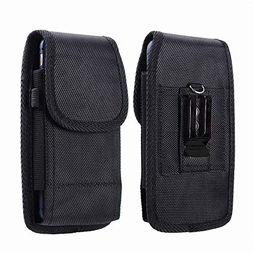 Belt Holster Pouch for Assurance Wireless Ans L51 Ul51, Asus ZenFone V Live V500KL, NUU A6L for Samsung Galaxy A10e, V Mobile A10 Rugged Canvas Tactical Case Phone Holder with Belt Clip Loops