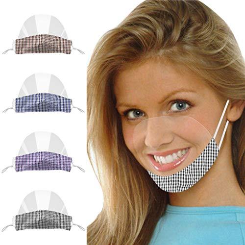 Ucoolcc 4 Stück Transparent Schutzvisier, Gesichtsschutz Visier aus Kunststoff, Transparente Offene Face Shield Gesichtsschutz Schutzvisier, Wiederverwendbarer Sicherheitsgesichtsschutz