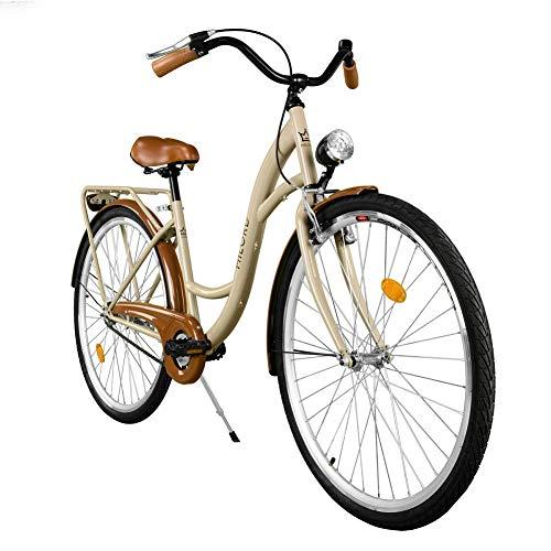 Milord Bikes Cómoda Bicicleta de Ciudad, Bicicleta, 3 Velocidades, Rueda de 26