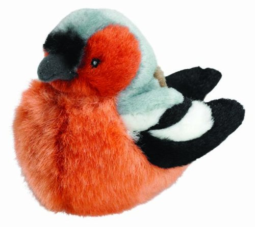 Wild Republic Oiseaux 13–16 cm Oiseau Pinson avec véritable appels en Peluche