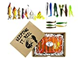 UFISH Tackle Box Fishing Gift Set for Men, for Fisherman in Your Life, Man Fishing Gift, Fathers Day Present, Fishing Gifts