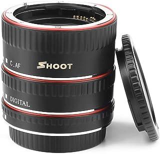 Docooler Shoot XT-364 Auto Focus AF Anillo de extensión Adaptador de Tubo Juego de Anillos 13mm 21m 31mm para Canon EF/EF-S Lente para Canon EOS 550D / 600D / 650D / 700D / 750D / 760D / 800D / 200D