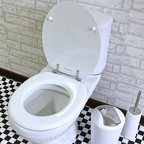 Aoyo wc-toiletbril met hoge weerstand bovenste beugel Quick Release demper toiletdeksel voor V/U/O-vormig toilet