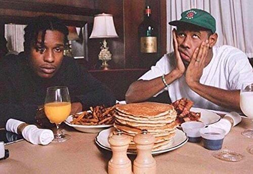 Ultimate mart Asap rocky and tyler the creator 12 x 18 Inch poster