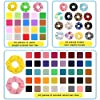 75 Pcs Premium Velvet Hair Scrunchies Silk Scrunchies Chiffon Flower Hair Bands for Women or Girls Hair Accessories with Gift Bag,Great Gift for Birthday ,Party,Halloween ,Thanksgiving,Christmas New Year #2