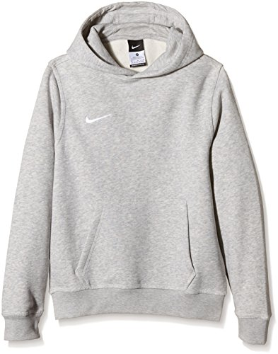 Nike Unisex Kinder Kapuzenpullover Team Club, Grau (Grey Heather/football White), L