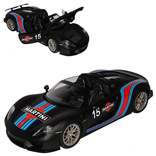 AUTOart Porsche 918 Spyder 2013 Weissach Package Martini Racing Matt Schwarz 77929 1/18 Modell Auto